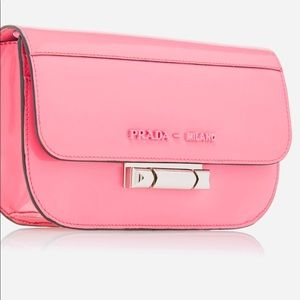 Patent Pink Prada clutch/!shoulder bag. New, new!